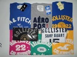 camisas masculinas de malha hollister / abercrombie