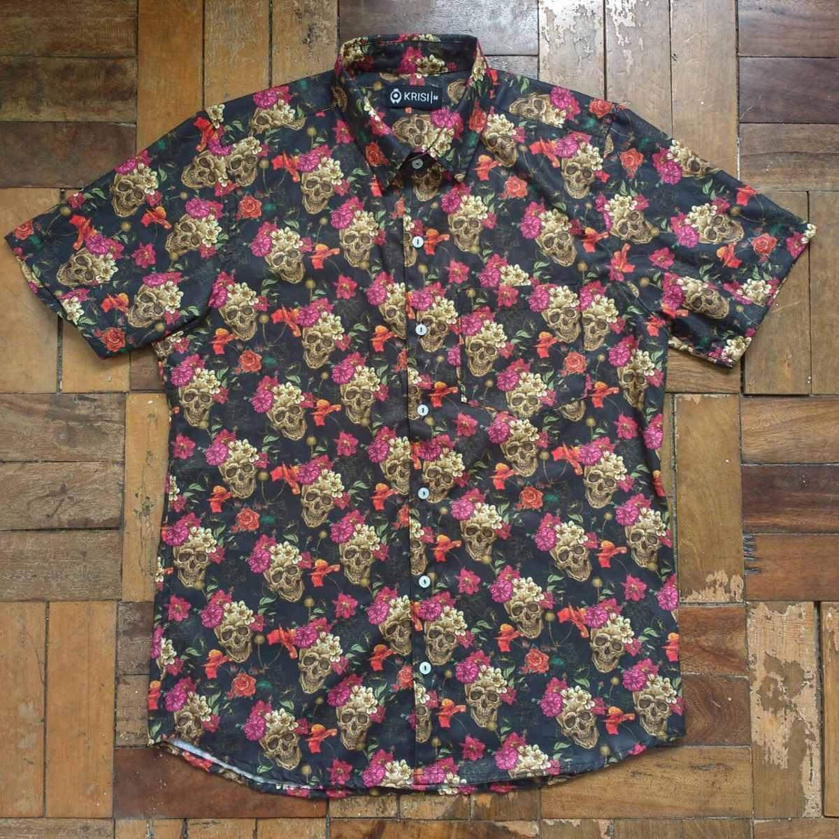 9a3b9e7ed camisas masculinas estampadas manga curta p m g gg e xg. Carregando zoom.