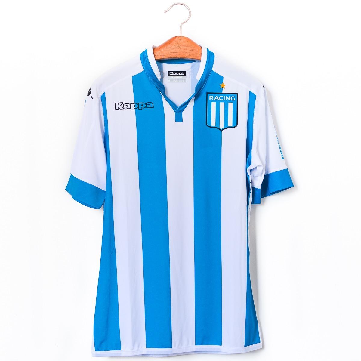 camisas masculinas futebol racing club 17 18 kappa gara. Carregando zoom. 7606763153024