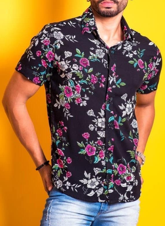 722551a17 Camisas Masculinas - Kit 3 Camisas Masculinas Estampadas - R  193