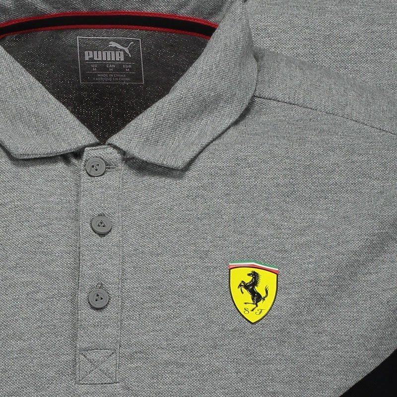 04b6fa9e72 camisas masculinas polo puma scuderia ferrari heather cinza. Carregando zoom .