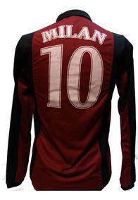 d14be9340a Camisa Milan Manga Longa Times - Camisas de Futebol com Ofertas Incríveis  no Mercado Livre Brasil