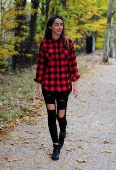 e983abc7315ec Camisas Mujer Escocesas Moda 2016 -   350