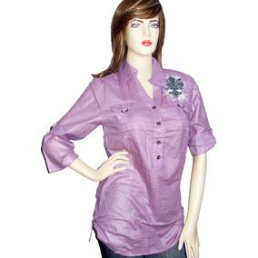 6cc4f7fc1166a Blusones Largos Manga 3 4 Para Mujer Blusas Unicolor Botones