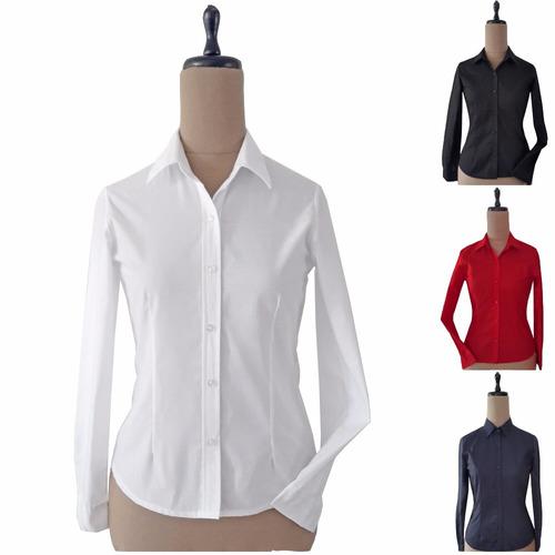 camisas mujer manga larga modelo woman classic