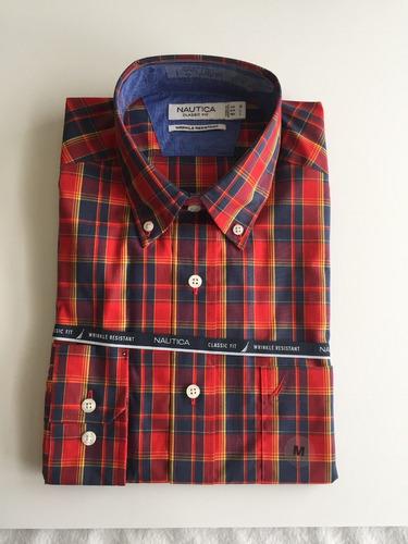 camisas nautica wrinkle resistant hombre talla m