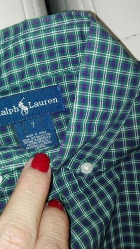 camisas niños polo ralph lauren y burberry