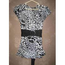 Blusa De Vestir Estilo Animal Print