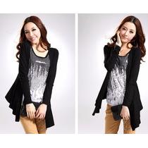 Capa Fashion Cardigan Strech Dama Talla S/m/l/xl