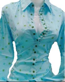 Camisas Para Dama De Vestir Manga Larga Estampadas Flores