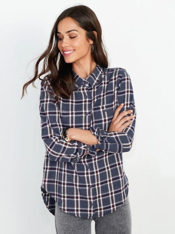 9b4c95aea Camisas Para Dama Moda Cuadros 2018 - Bs. 69