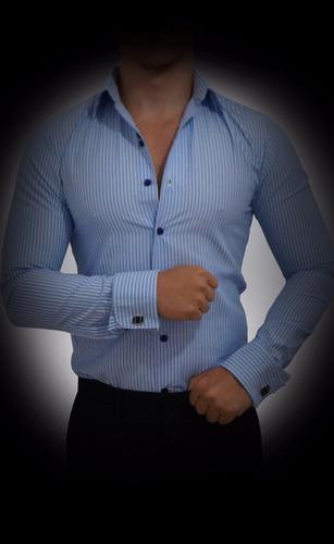 camisas para mancuernillas john leopard trajeformal slim fit