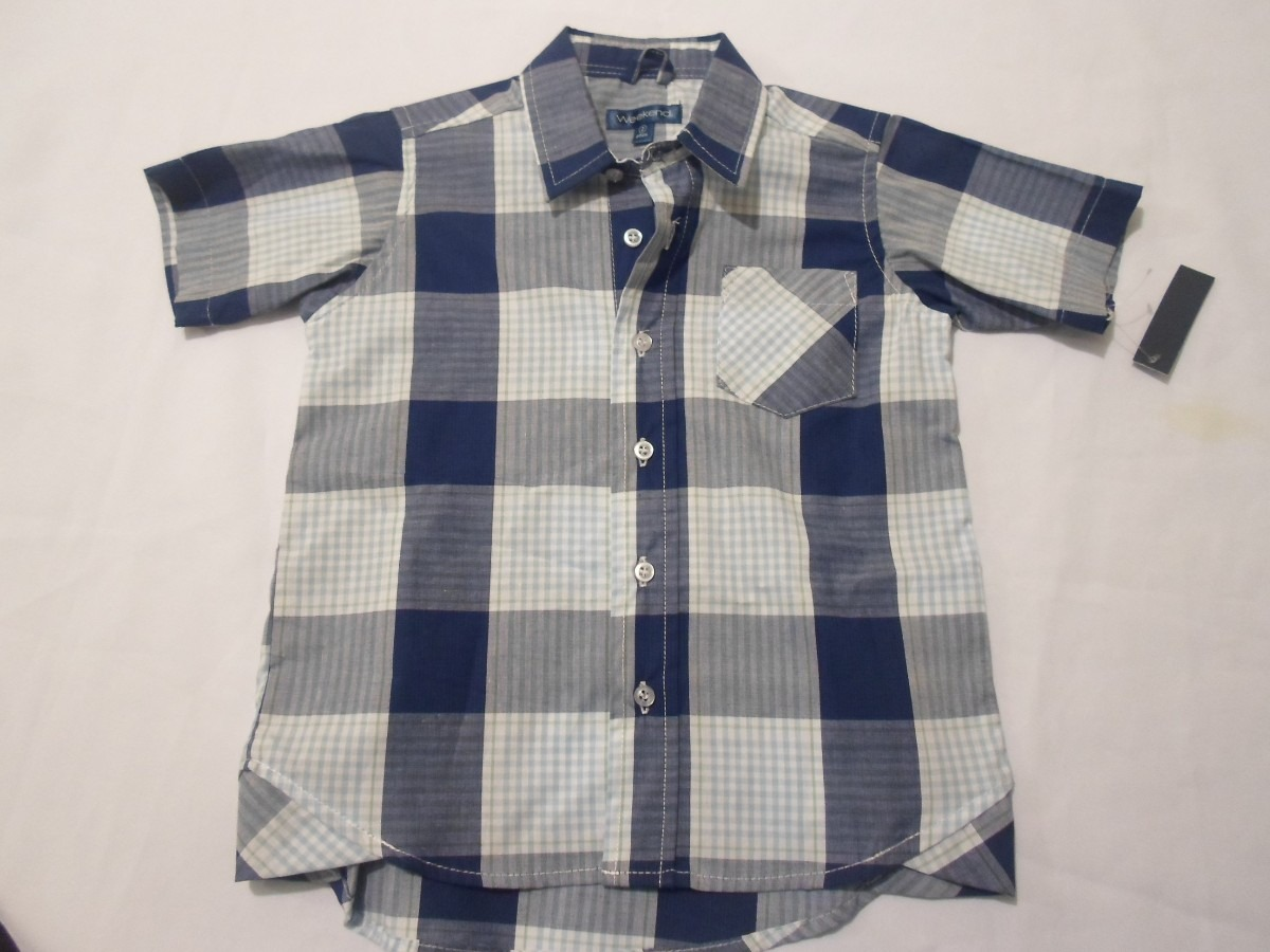 8c5bf25ff23 Camisas Para Niño Bebe Cuadros 4 Años Hm4 -   98.98 en Mercado Libre