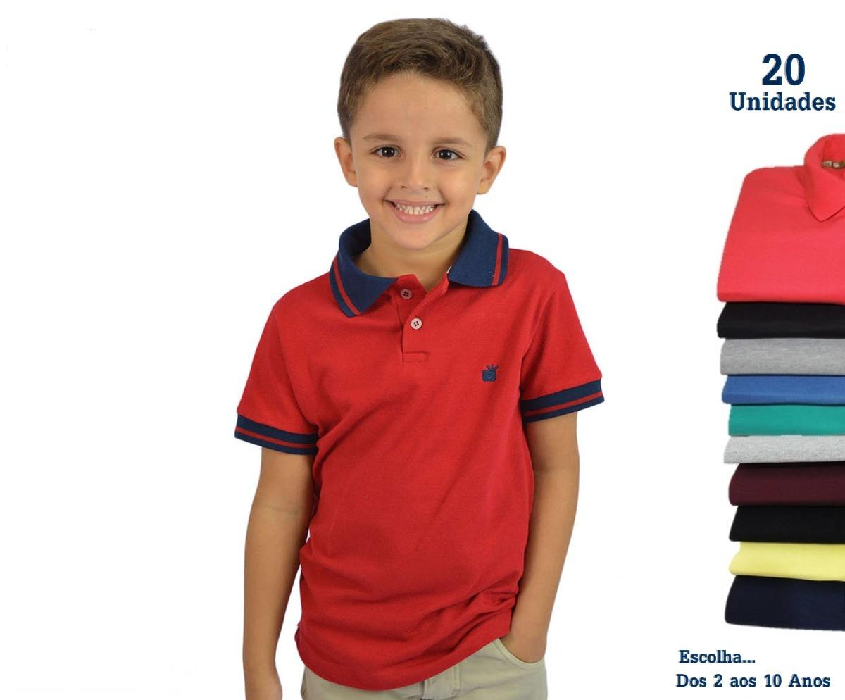 camisas polo infantil atacado kit 20 peças direto da fabrica. Carregando  zoom. a8c50b0cd3d9a