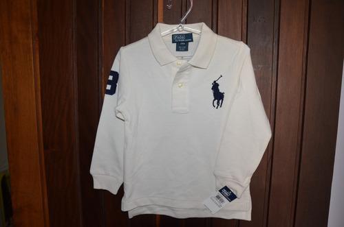 camisas polo ralph lauren big pony  - original (creme)