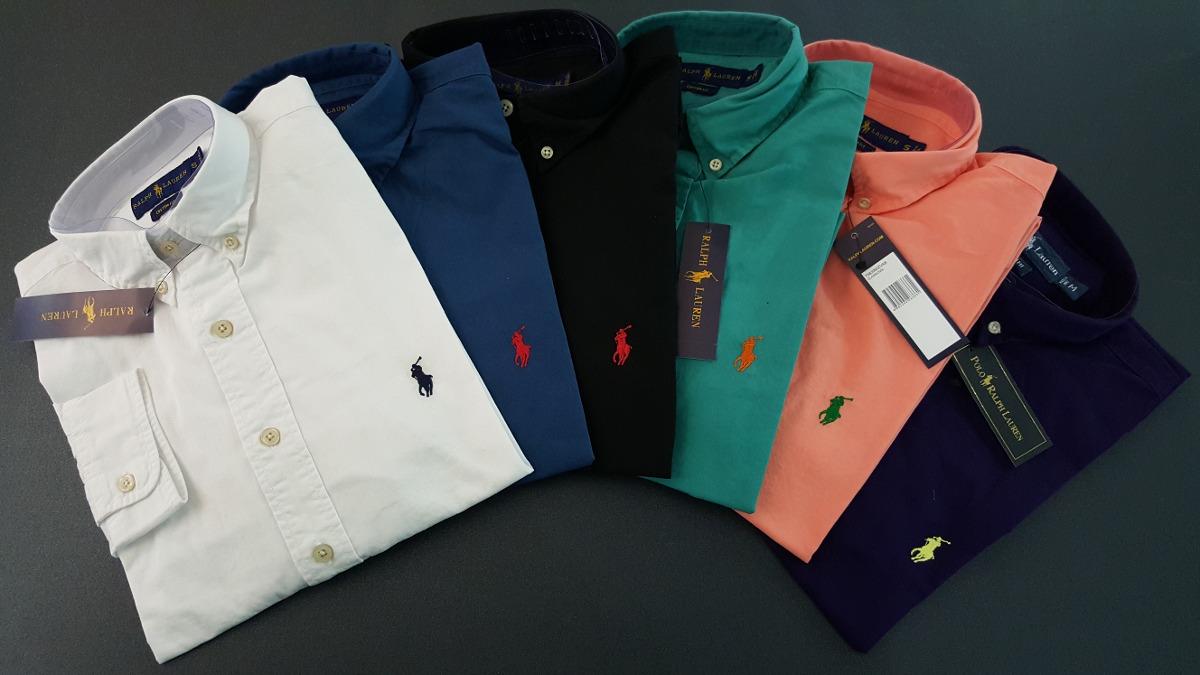 Camisas Polo Ralph Lauren Custom Fit Manga Corta Y Larga -   119.900 ... e2d76fd2307