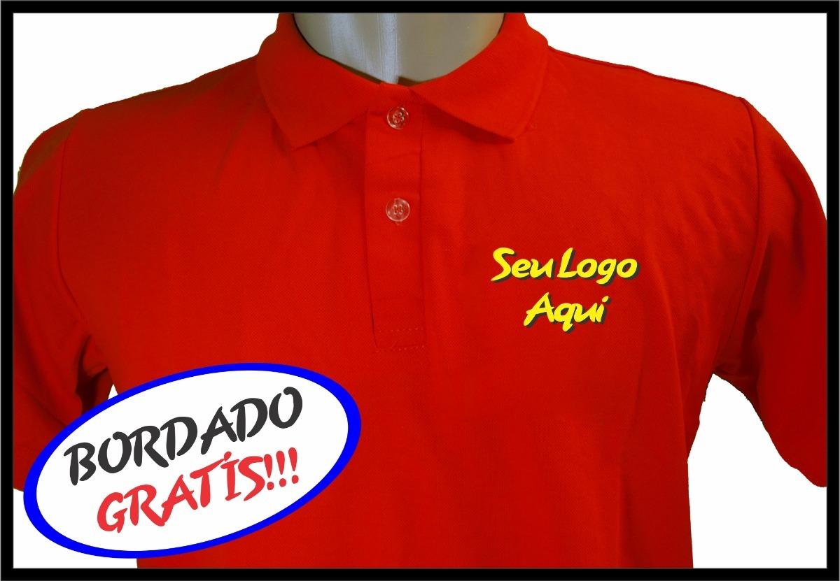 c7e6684f9 camisas polo uniforme bordado frente seu logo varias cores. Carregando zoom.