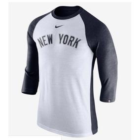 002db5dc7cc07 Polo Manga 3 4 Nike Mlb New York Yankees