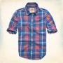 Camisa Hollister - Sarga Grandview - Escocés Talla M