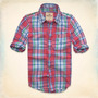 Camisa Hollister - Sarga Grandview - Escocés Talla M - L
