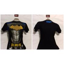 Polos Licrados Estampados De Batman Tallas Xs-s-m-l-xl