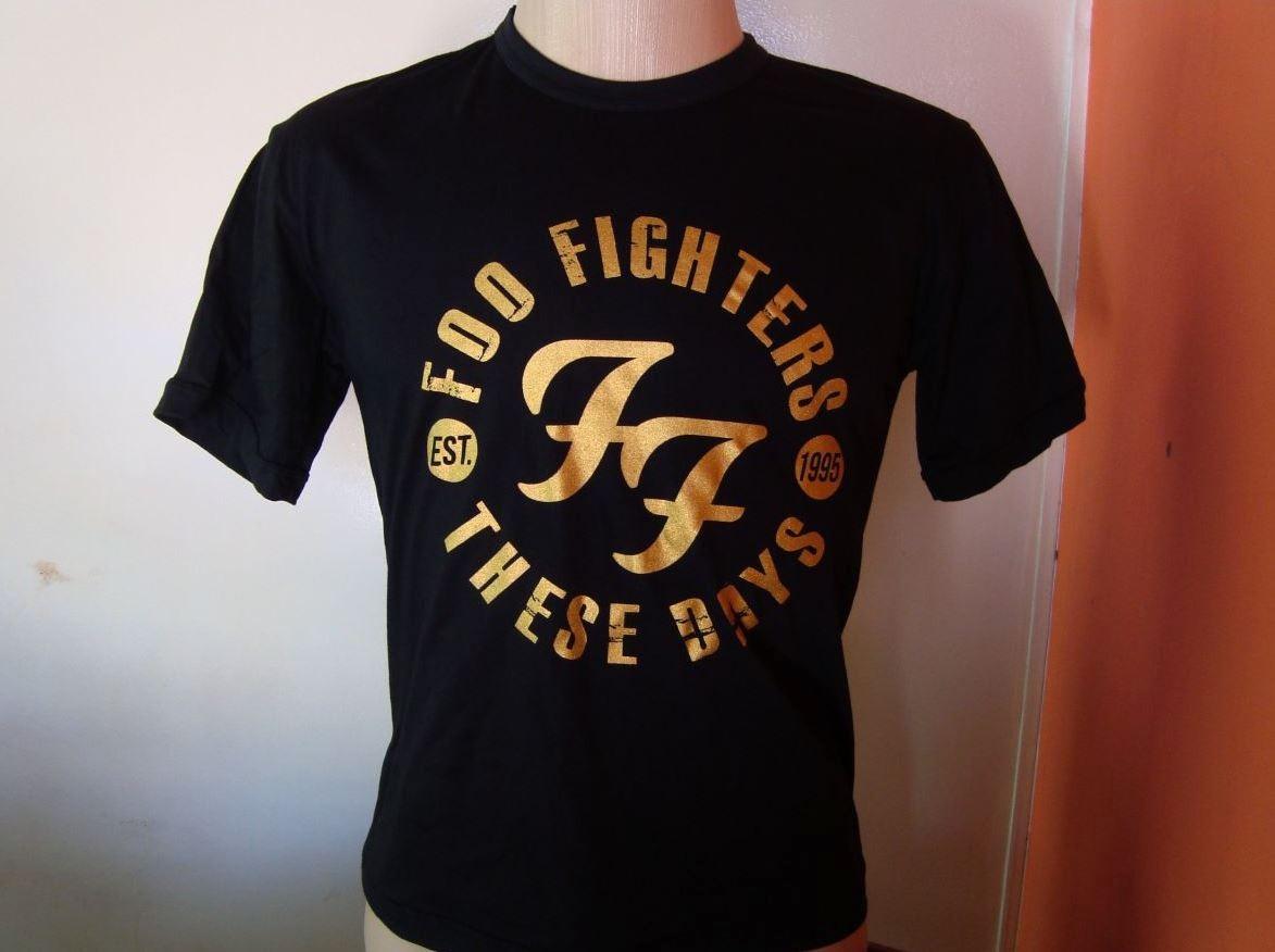 1be7434326 camisas rock - foo fighters - estampa dourada algodão fio 30. Carregando  zoom.