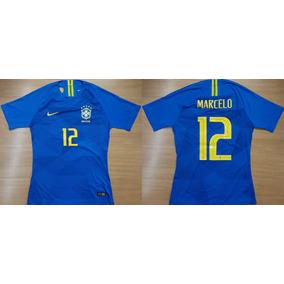 45a1b2031 Camisa Da Selecao Brasileira Azul Marcelo - Camisa Masculina de Seleções de  Futebol no Mercado Livre Brasil