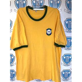 f424b857d906b Camisa Seleção Brasileira Retro - Camisa Brasil Masculina no Mercado Livre  Brasil