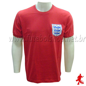 bfbe2dc2ee36a Camisa Retrô Inglaterra 1966
