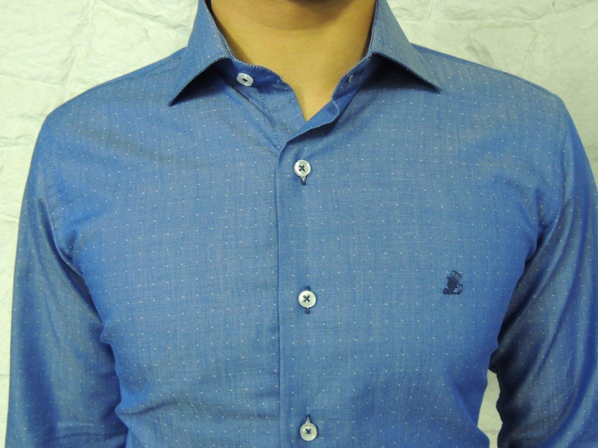 9a48fc9e9 camisas sociais masculina manga longa modelo slim marca dml. Carregando  zoom.