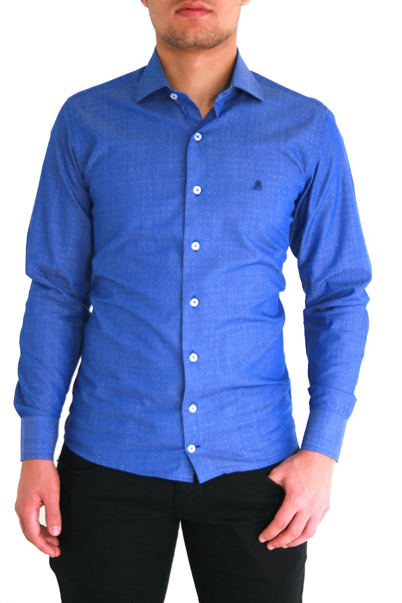 5b8350c09e camisas social baratas roupa masculina viho azul grafite. Carregando zoom.