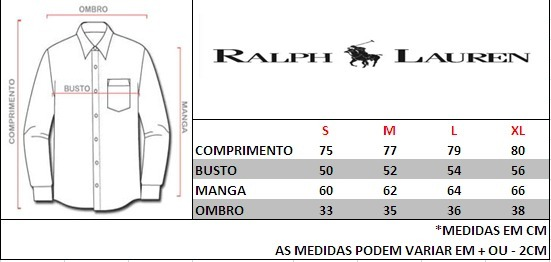 6f565b9cd9e3a Camisas Masculinas Social Ralph Lauren Manga Longa - R  247,00 em ...