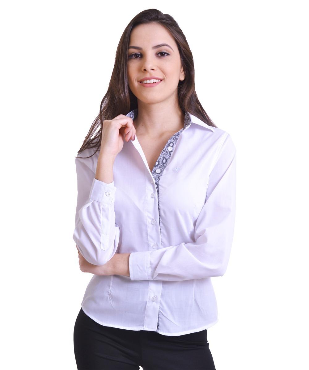 11436fbe2 Kit 02 Camisas Social Feminina Manga Longa - R$ 134,61 em Mercado Livre