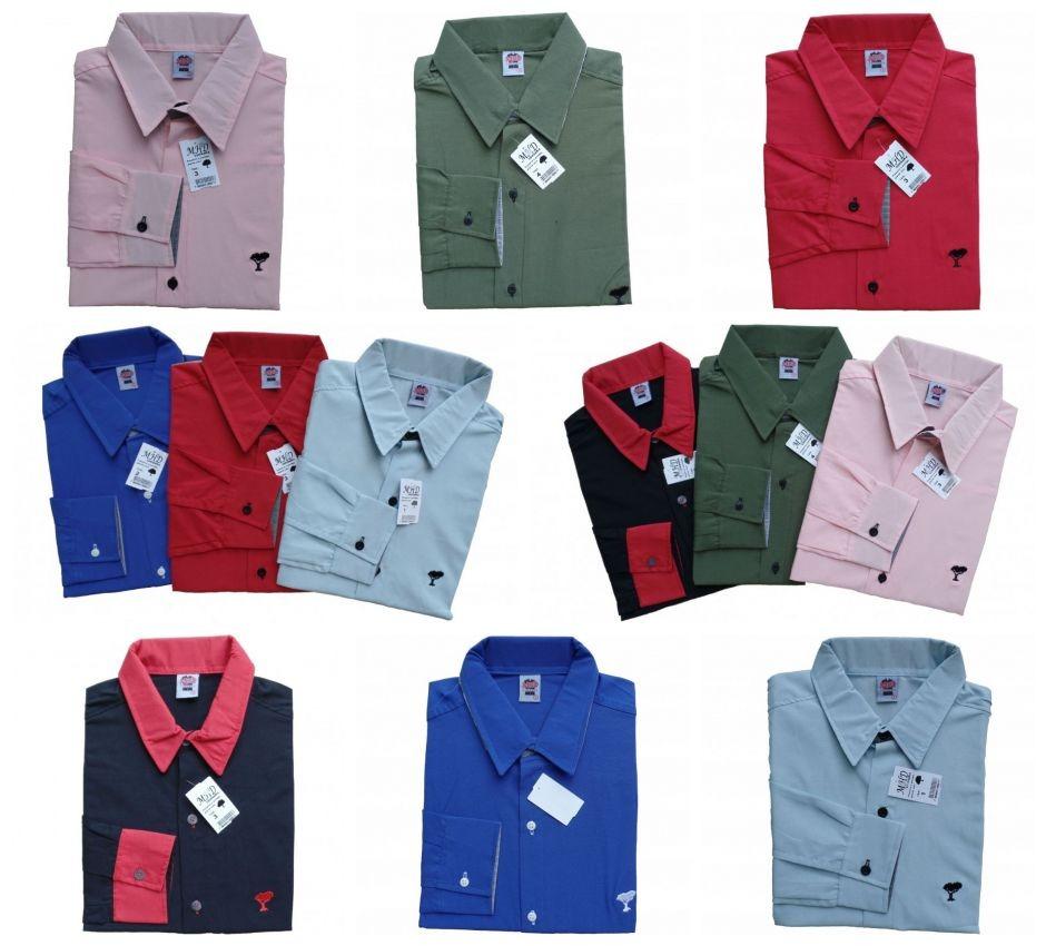 camisas social masculina slim - atacado - promoção - p ao gg. Carregando  zoom. 81d0045ef0