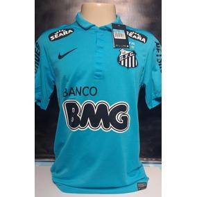 6879c03aba238 Camisa Santos Azul Centenario - Camisa Santos Masculina no Mercado Livre  Brasil