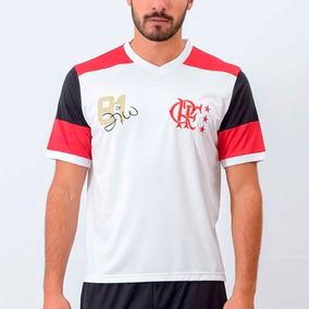 70eb26f5f6f88 Camisa Flamengo Retrô Zico Braziline Branca - Camisa Flamengo Masculina no  Mercado Livre Brasil