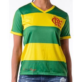 402e5d43bd9b4 Camisa Flamengo Verde E Amarela Brasil - Camisas de Futebol no Mercado  Livre Brasil