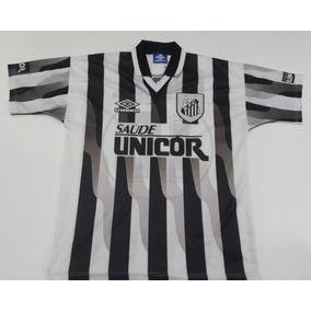bfa851758cc7f Camisa Do Santos Bombril Listrada no Mercado Livre Brasil