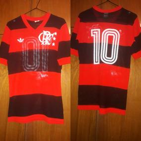7218a1c88ddf9 Camisa Flamengo Branca Zico 81 no Mercado Livre Brasil