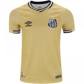 b5d6b6a6188bd Camisa Santos Com Patrocinio Atual - Camisa Santos Masculina no Mercado  Livre Brasil