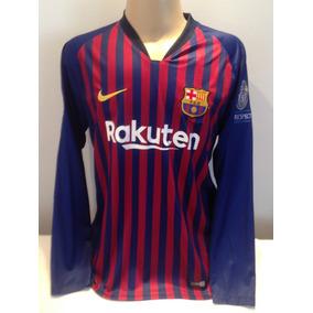 57f1450cf9e50 Camisa Manga Longa Pique Barcelona - Camisa Barcelona no Mercado Livre  Brasil