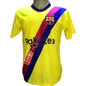 1f60a2cf2f669 Camisa Barcelona Amarela - Camisa Barcelona Masculina no Mercado Livre  Brasil