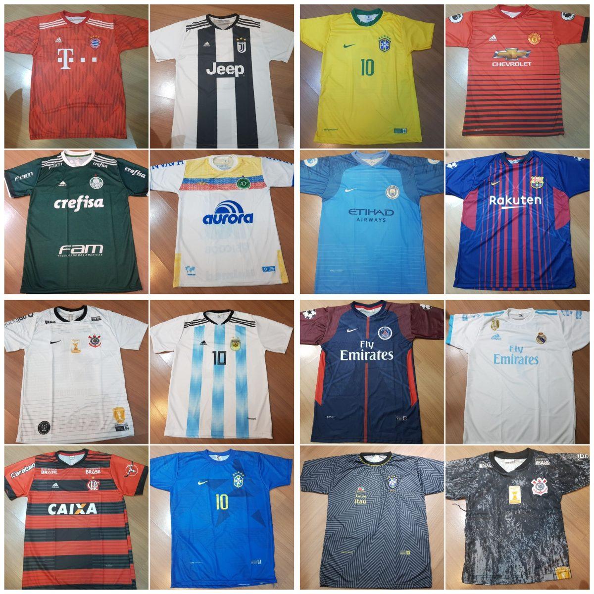 Kit 10 Camisas De Times De Futebol - Para Revenda - R  184 713fa5e05a707