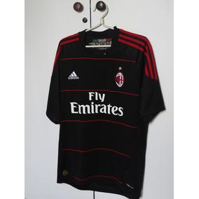 7195682066bf6 Camisa Milan Adidas Preta - Futebol no Mercado Livre Brasil