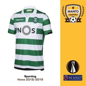 2ff53c63d6550 Camisa Sporting 2018 2019 Home Uniforme 1 Bas Dost Nani
