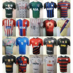 e8925cd1ede46 Kit Camisetas De Times Europeus no Mercado Livre Brasil