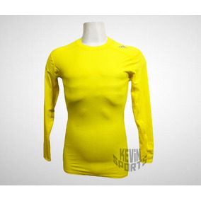 4dbba00a90195 Camisa Termica Nike Manga Longa Amarela - Futebol no Mercado Livre Brasil