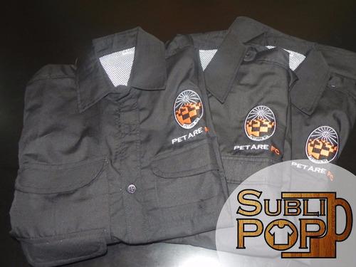camisas tipo columbia confección y bordado