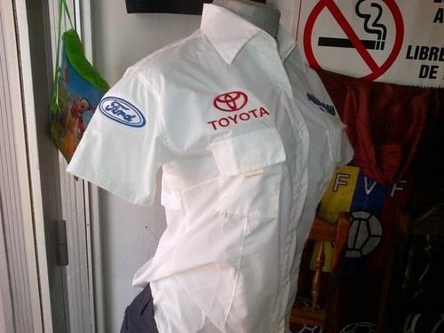 camisas tipo columbia manga corta dama o caballero  unicolor