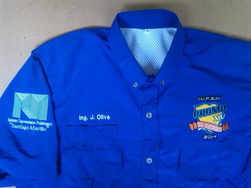 camisas tipo columbia personalizadas con bordados de calidad
